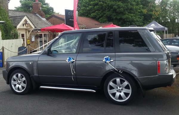 range rover wedding car hire chesterfield