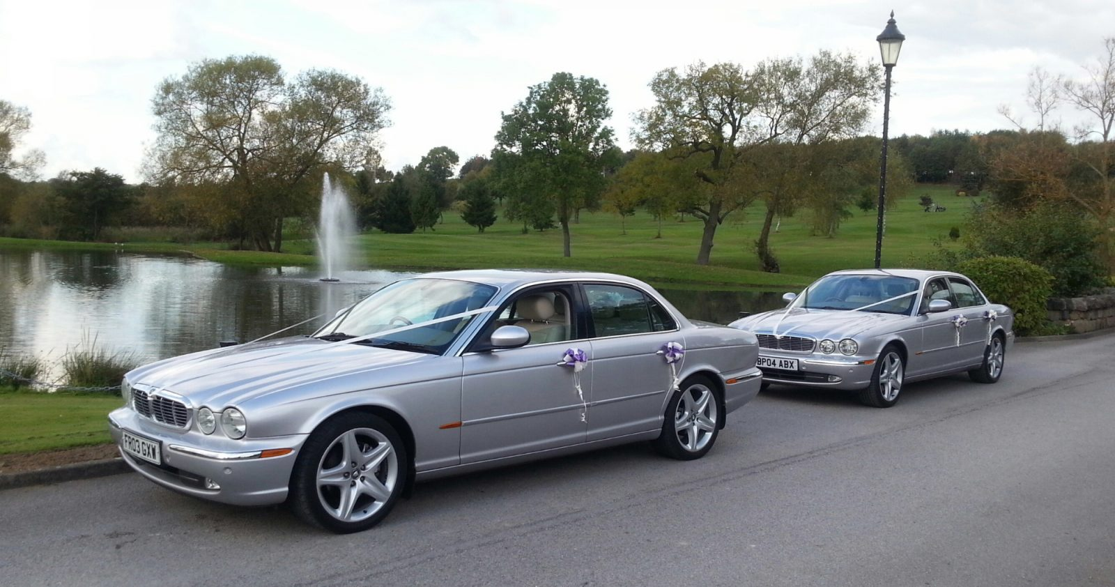 silver jaguar limousines wedding car hire