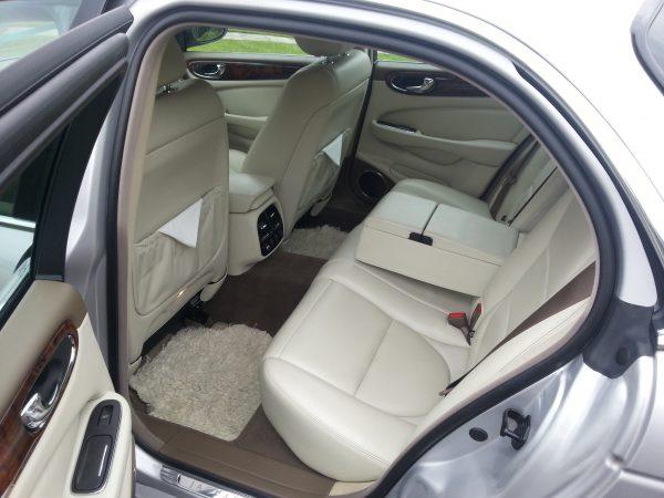 silver jaguar limousine wedding cars