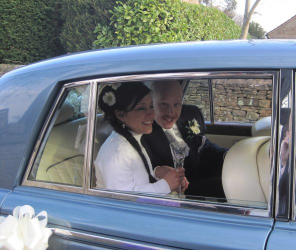 simon & iris wedding car hire