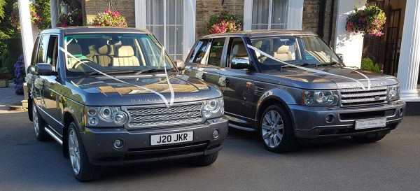 two range rover sport supercharged v8 wedding cars for hire